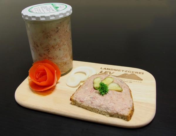 Grobe Leberwurst im großen Glas