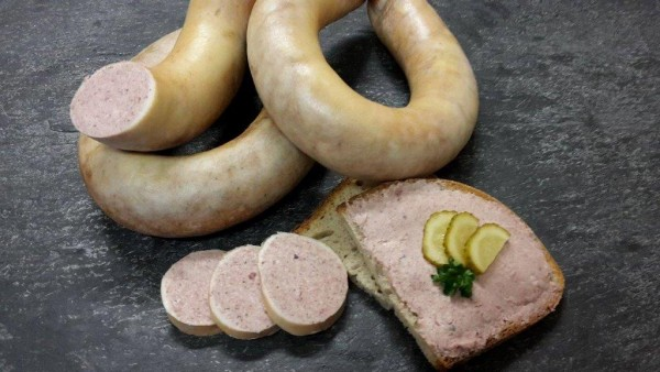 Leberwurst, fein nach Thüringer Art