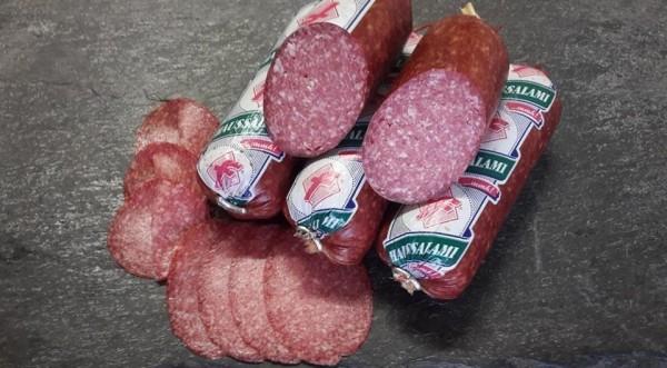 Haussalami, portioniert nach Thüringer Art