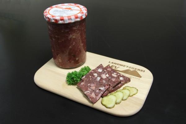 Rotwurst im Glas, groß
